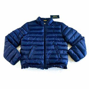 NWT - Polo Ralph Lauren Girls Ruffle Down Jacket
